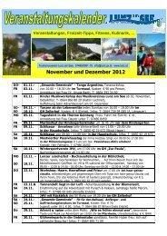 Veranstaltungskalender November-Dezember 2012 - Lunz am See