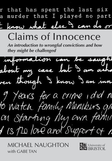 Claims of Innocence - Innocence Network – UK