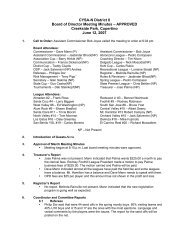 CYSA-N District II Board of Director Meeting Minutes – APPROVED ...