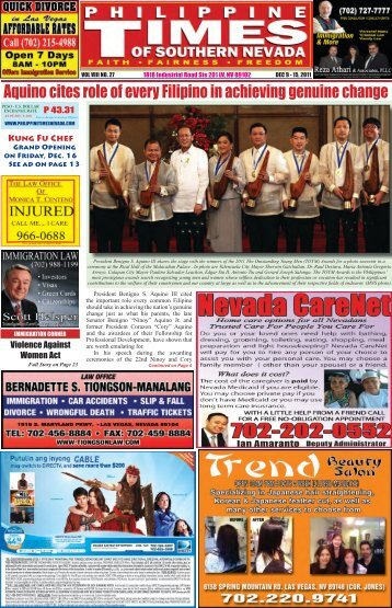December 9 to 15, 2011 - Philippine Times of Southern Nevada