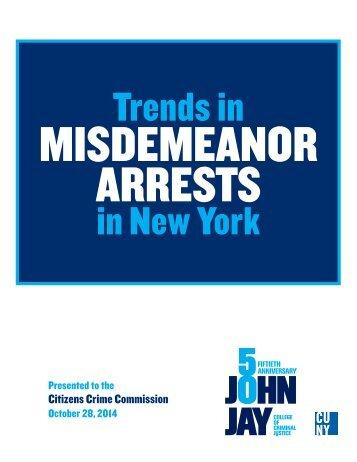 Misdemeanor Arrests