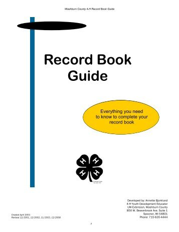 Record Book Guide