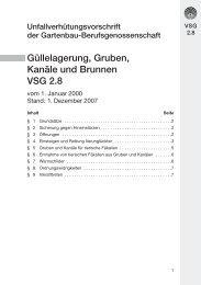 VSG 2.8 Güllelagerung, Gruben, Kanäle und Brunnen