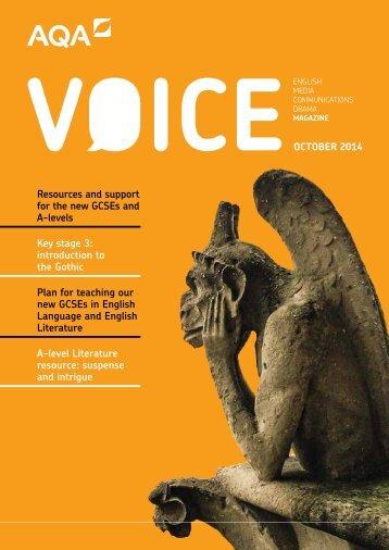 AQA-ENGLISH-VOICE-OCT-14
