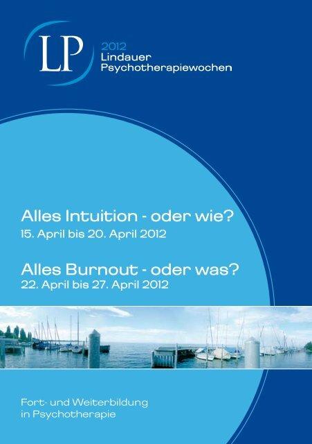 Intuition - Lindauer Psychotherapiewochen