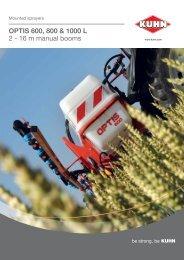 OPTIS 600 800 & 1000 L 2 - 16 m manual booms