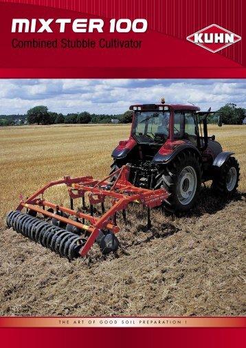 The Kuhn-Huard 3 to 6 m stubble cultivator range