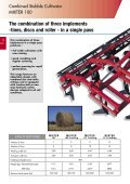 The Kuhn-Huard 3 to 6 m stubble cultivator range - Page 4