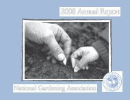 Message from the President - National Gardening Association