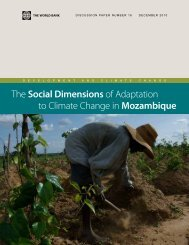 The Social Dimensions of Adaptation to Climate Change in Mozambique