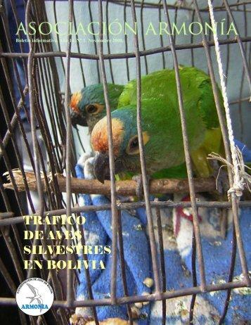 TRÁFICO DE AVES SILVESTRES EN BOLIVIA