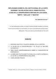 reflexiones sobre el rol institucional de la corte suprema y ... - Cebem