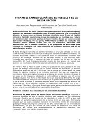 FRENAR EL CAMBIO CLIMÁTICO ES POSIBLE Y ES LA MEJOR OPCIÓN