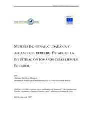 mujeres indígenas, ciudadanía y alcance del derecho. estado de la ...