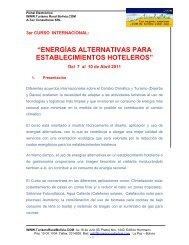 """""""ENERGÍAS ALTERNATIVAS PARA ESTABLECIMIENTOS HOTELEROS"""""""