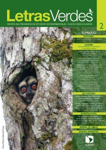 Letras verdes no.2 - noviembre 2008.pdf - Flacso Andes