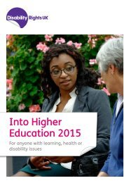 Into Higher Education 2015