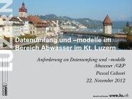 Datenumfang und –modelle im Bereich Abwasser im Kt Luzern