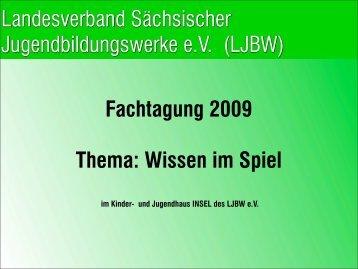Dokumentation dieser Fachtagung - LJBW eV