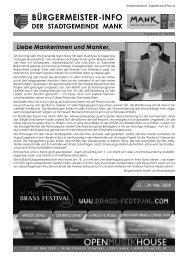 7. Juni 2008 - Stadtgemeinde Mank