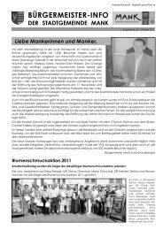 Bürgermeister-Info Oktober 2011 (6,62 MB) - Stadtgemeinde Mank