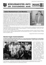 Bürgermeisterinfo Juni 2010 - Stadtgemeinde Mank