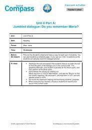 Unit 8 Part A: Jumbled dialogue - Klett-langenscheidt.de