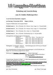 Einladung und Ausschreibung zum 24. Schüler-Hallensportfest