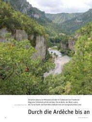 Durch die Ardèche bis an