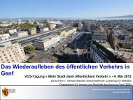 Das Wiederaufleben des öffentlichen Verkehrs in Genf
