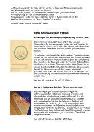 ... Metamorphosen: In der Natur können wir hier in ... - Anthrobuch.com