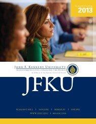11824_JFKU_Catalog Front Cover.indd - John F. Kennedy University