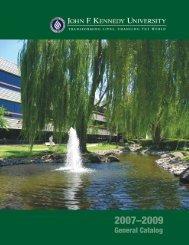 General Catalog - John F. Kennedy University