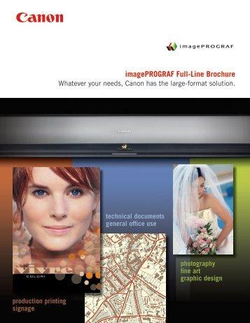 imagePROGRAF Full-Line Brochure