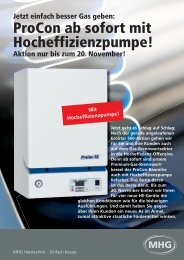 ProCon ab sofort mit Hocheffizienzpumpe! - MHG Heiztechnik