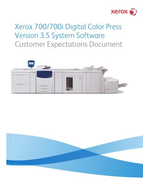 Xerox 700/700i Digital Color Press Version 3 5 System