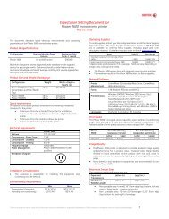 Expectation Setting Document Xerox WorkCentre 7830/7835/7845