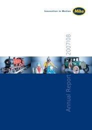 Annual Report - Miba