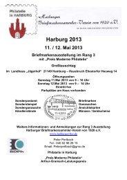 Harburg 2013 - Harburger Briefmarkensammler-Verein von 1920 eV