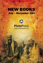 New Books Catalogue Autumn/Winter 2011 - Pluto Press