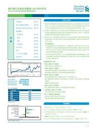 渣 打 银 行 全 球 市 场 展 望 -2012 年 9 月 刊