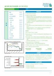 渣 打 银 行 每 月 市 场 观 察 -2011 年 10 月 刊