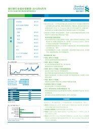 渣 打 银 行 全 球 市 场 展 望 -2012 年 8 月 刊