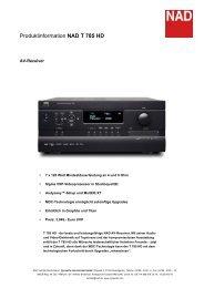 Produktinformation NAD T 785 HD