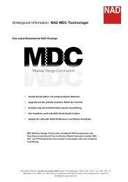 Hintergrund-Information NAD MDC-Technologie