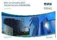Bilan 1er Semestre 2012 Marché Tertiaire STRASBOURG