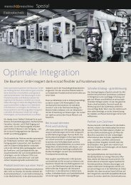 Optimale Integration - Mensch und Maschine