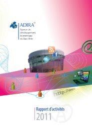 Rapport d'activités 2011 - Adira