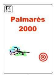 Palmarès 2000