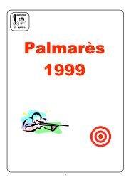 Palmarès 1999